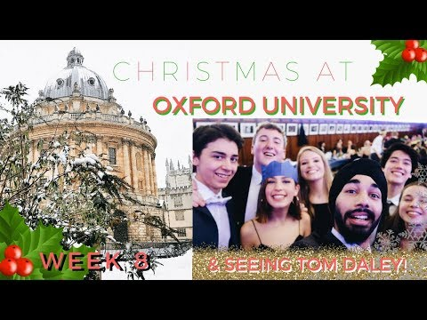 CHRISTMAS AT OXFORD 🎅 🌲  |  SEEING TOM DALEY | WEEK 8 | OXFORD VLOGS | THIS IS MANI