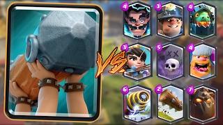 Battle Ram vs All Cards in Clash Royale   Battle Ram Gameplay