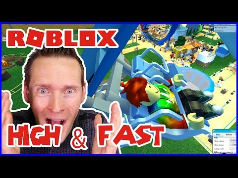 High & Fast Steel Coaster!!!  /  Roblox Theme Park Tycoon