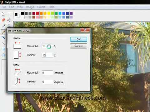 how to change picture size in paint