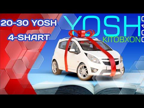 """""""YOSH KITOBXON-2019"""" 20-30 YOSH. 4-SHART VA TAQDIRLASH MAROSIMI"""