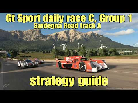 Gt Sport daily race C strategy guide....Sardegna Road track A....Group 1