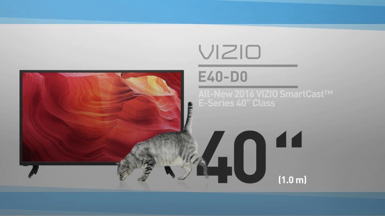 AllNew 2016 VIZIO E40D0 SmartCast ESeries 40 Class HDTV Full
