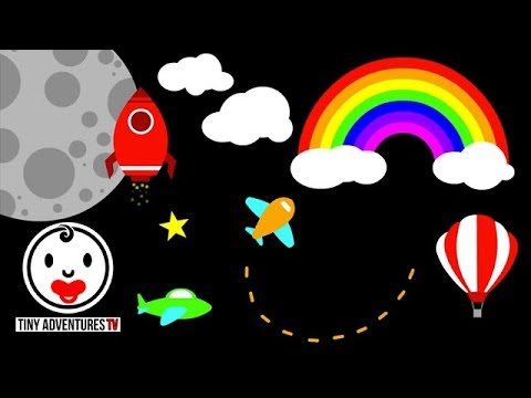 Baby Sensory Things That Fly High Contrast Infant Visual Stimulation Video For Baby Youtube