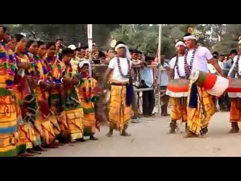 INDIAN TRAIBAL FOLK DANCE..SATNTALI TRADITIONAL DANCE..2016,  Part-4