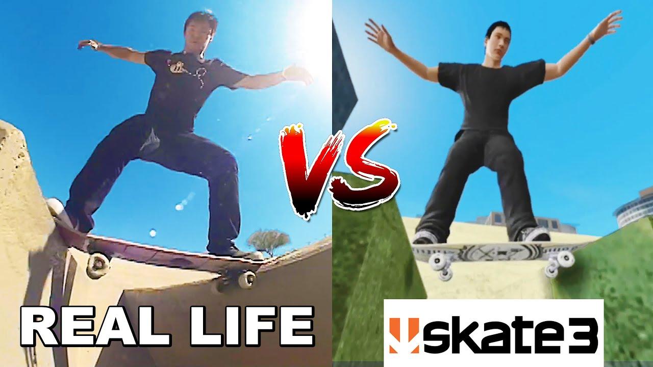 MY CREATIVE SKATE TRICKS VS SKATE 3