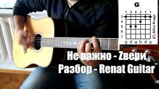 Скачать Не важно Zвери Разбор Renat Guitar