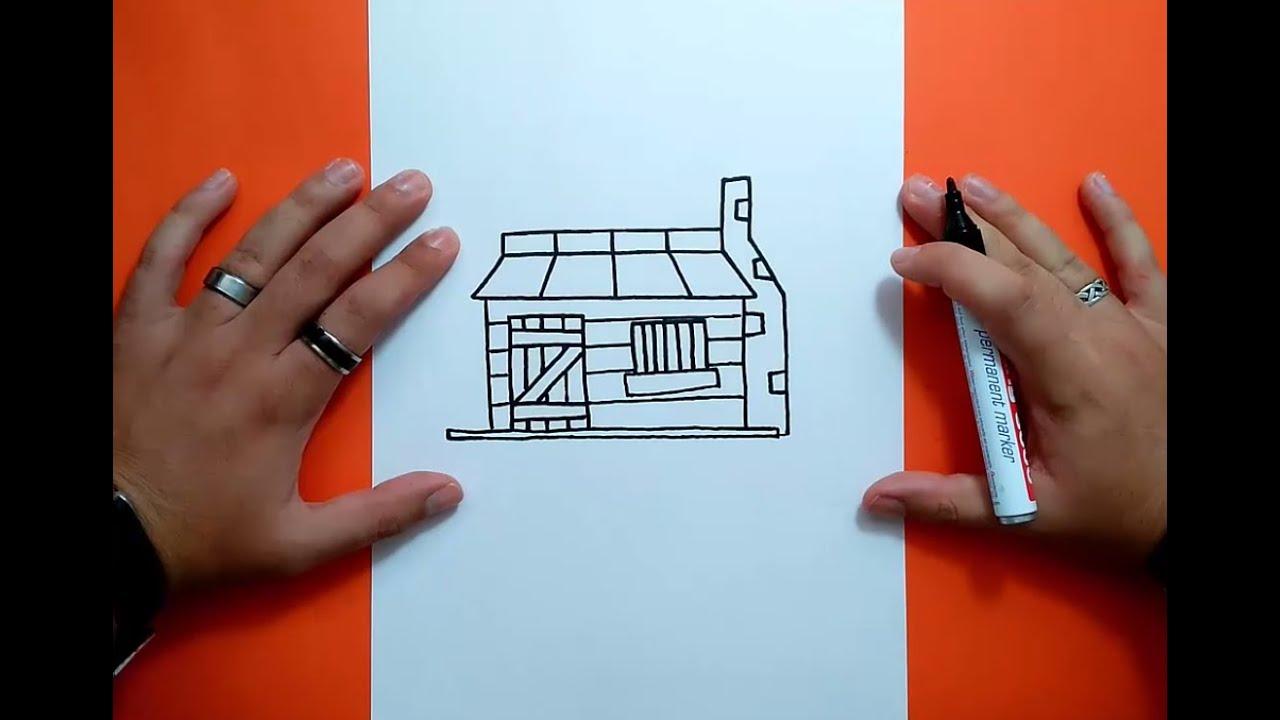 Como dibujar una caba a paso a paso 2 how to draw a - Como construir una cabana ...
