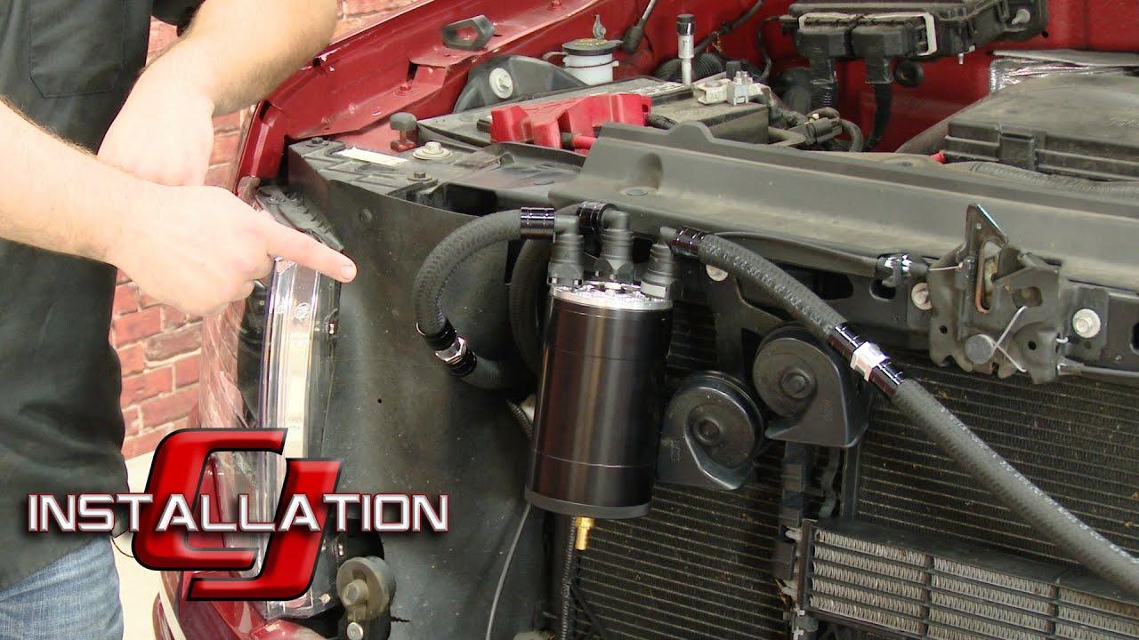 """F 150 UPR Oil Separator 4"""" Mega Catch Can Kit Black EcoBoost 3 5L"""