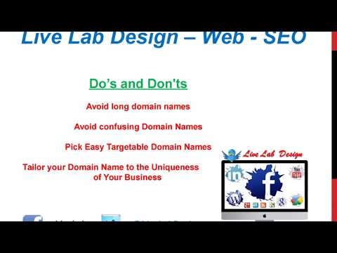 How To Choose Your Website Domain - Live Lab Search Engine Optimization