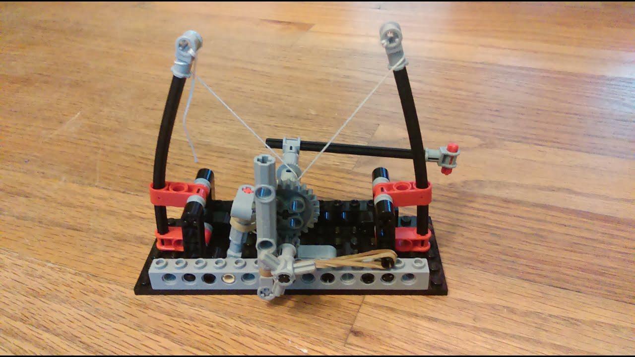 Lego Technic Leonardo Da Vinci Catapult Youtube