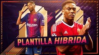 PLANTILLA HÍBRIDA !!! | BRASIL FRANCIA | CON DEMBÉLE & MARTIAL