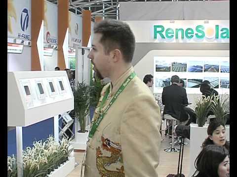 InterSolar Interview - ReneSola - Reri GmbH & Co KG Solar.avi