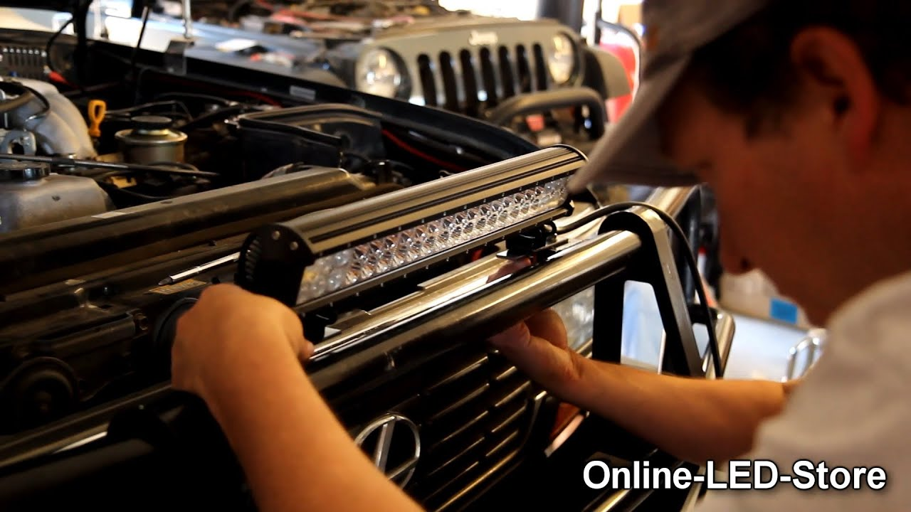 Off Road Jeep Vehicle LED Light Bars Installation LAMPHUS – Led Off-road Light Bar Wiring Diagram