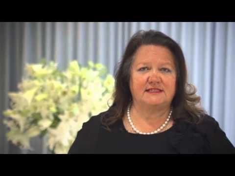 "Gina Rinehart Video - ""The Future of Australia's Mining Industry Under Threat"" - May 2013"