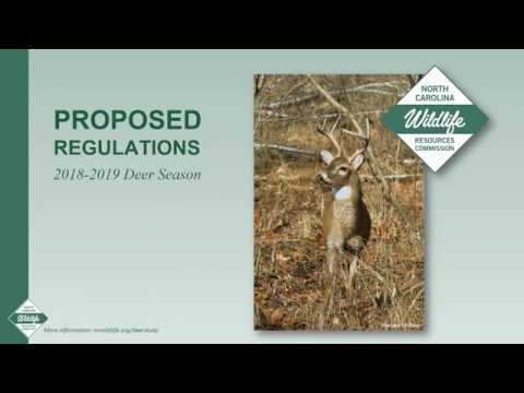 Proposed NC Deer Season Regulations (2018-2019)