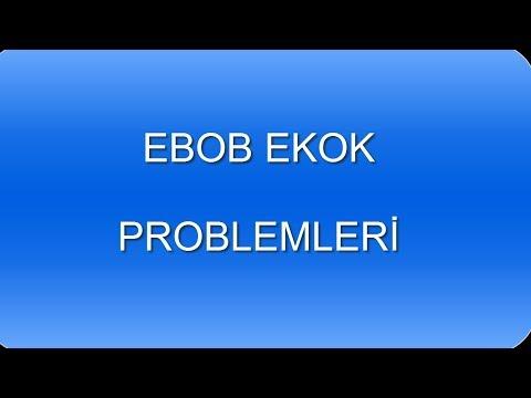EBOB EKOK PROBLEMLERİ