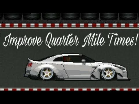 How to improve 1/4 mile times with launch in Pixel Car Racer |