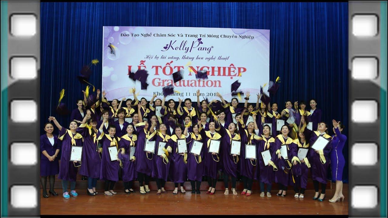 Kỳ thi và lễ tốt nghiệp KELLY PANG NAIL school graduation - YouTube