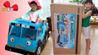라임이의 꼬마버스 타요 전동차 자동차 만들기 장난감 놀이 |수영장 놀이 swimming pool playground | 라임송 인기동요 | LimeTube & Toy 라임튜브