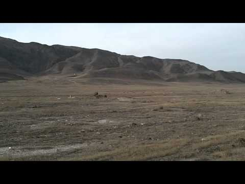 Barren land in Kazakhstan - Cycling Around the World