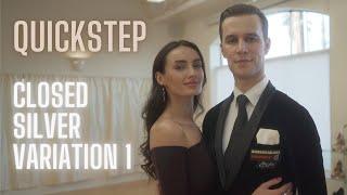 Quickstep Basic Syllabus Closed Silver Variation 1 by Iaroslav and Liliia Bieliei