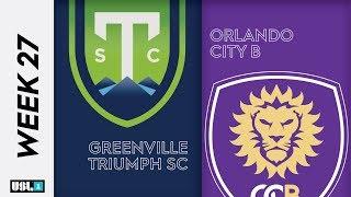 Greenville Triumph SC Vs. Orlando City B September 27th 2019
