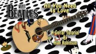 All You Need Is Love - The Beatles - Acoustic Guitar Lesson (easy-ish)
