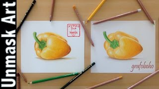 Drawing Bell Peppers With My Wife | Colored Pencil Drawing Time lapse