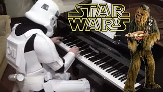 Star Wars Throne Room and Ending Title on Piano