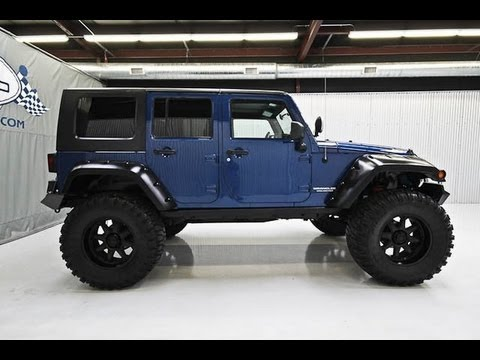 2009 jeep wrangler unlimited rubicon lifted jeep 4 sale youtube. Black Bedroom Furniture Sets. Home Design Ideas