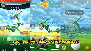 World's First 100IV Rayquaza in Pokemon Go