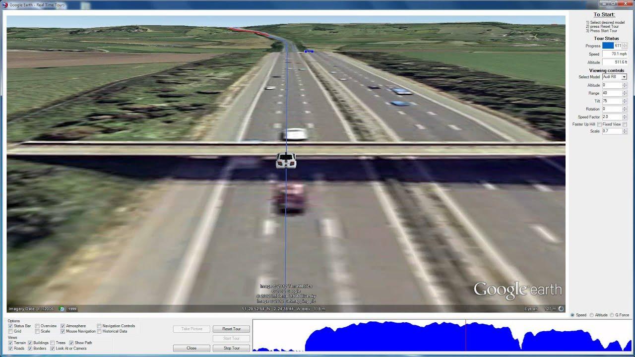 Google Earth Car Ride Demo Youtube