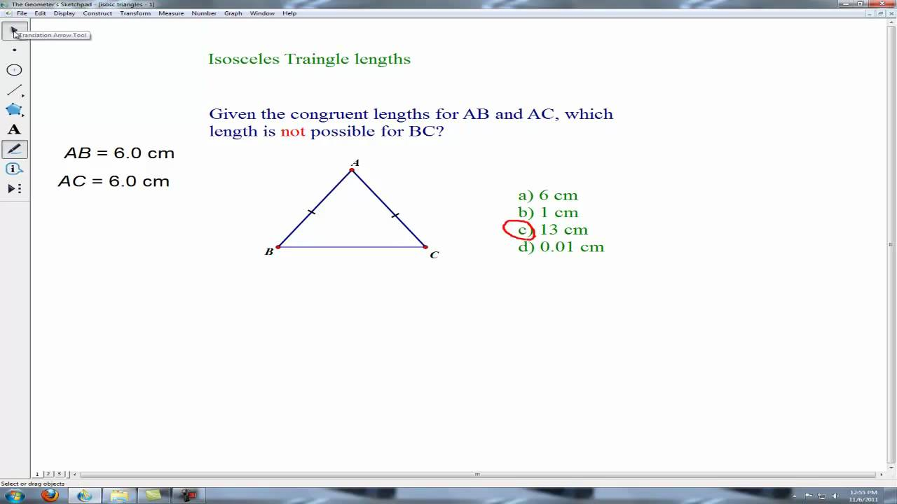 Isosceles triangle problems third side youtube isosceles triangle problems third side ccuart Gallery