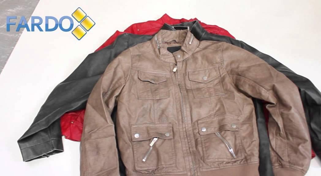 Venta de fardos de chaquetas de cuero