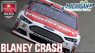 Ryan Blaney Reaction to Michigan Crash || June 2016