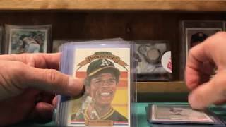 Baseball Card collection intro to YouTube.