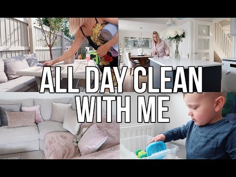 ALL DAY CLEAN WITH ME || DAILY CLEANING ROUTINE 2018