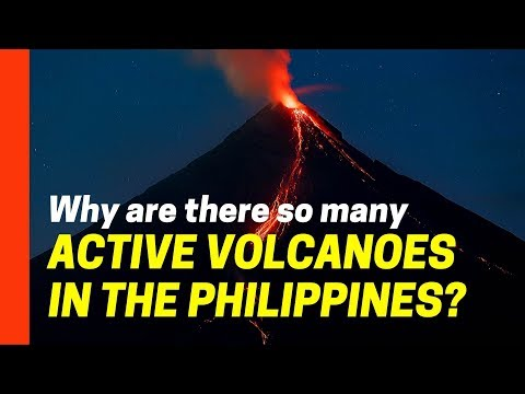 Why are there so many active volcanoes in the Philippines?