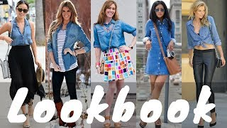 Latest Denim Shirt Outfit Ideas Spring Lookbook 2018 | Spring Fashion Lookbook