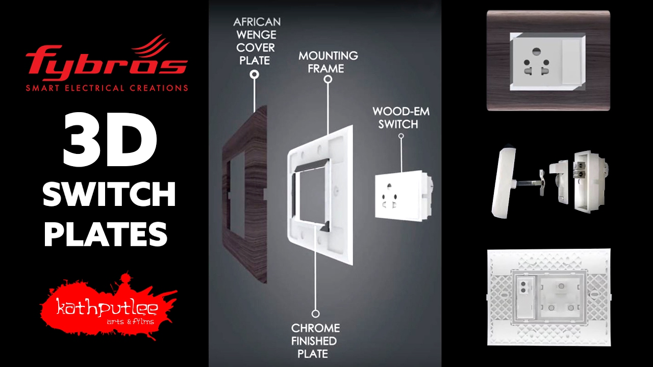 Fybros Switches : Modular Switch Plates : 3D Products - YouTube