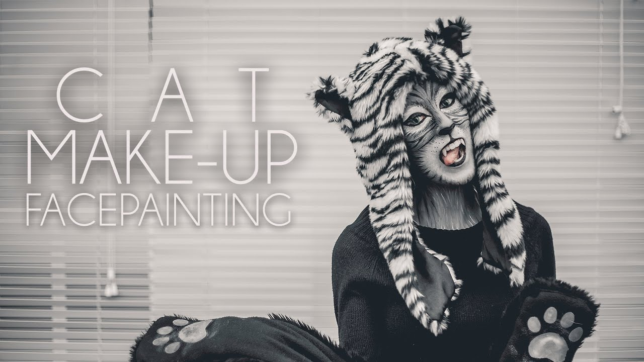 katzen make up facepainting youtube. Black Bedroom Furniture Sets. Home Design Ideas
