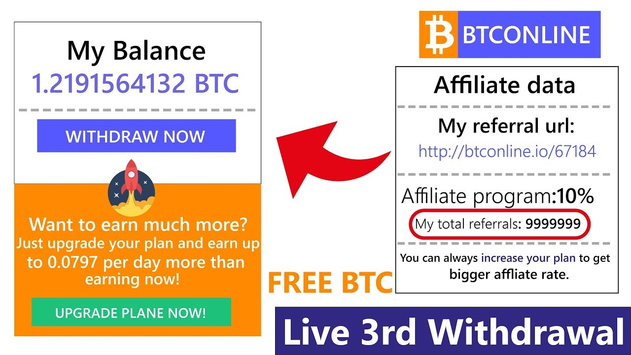 BTConline io Free Bitcoin Mining 43$ Live Withdrawal Payment Proof 2018 in  Urdu Hindi