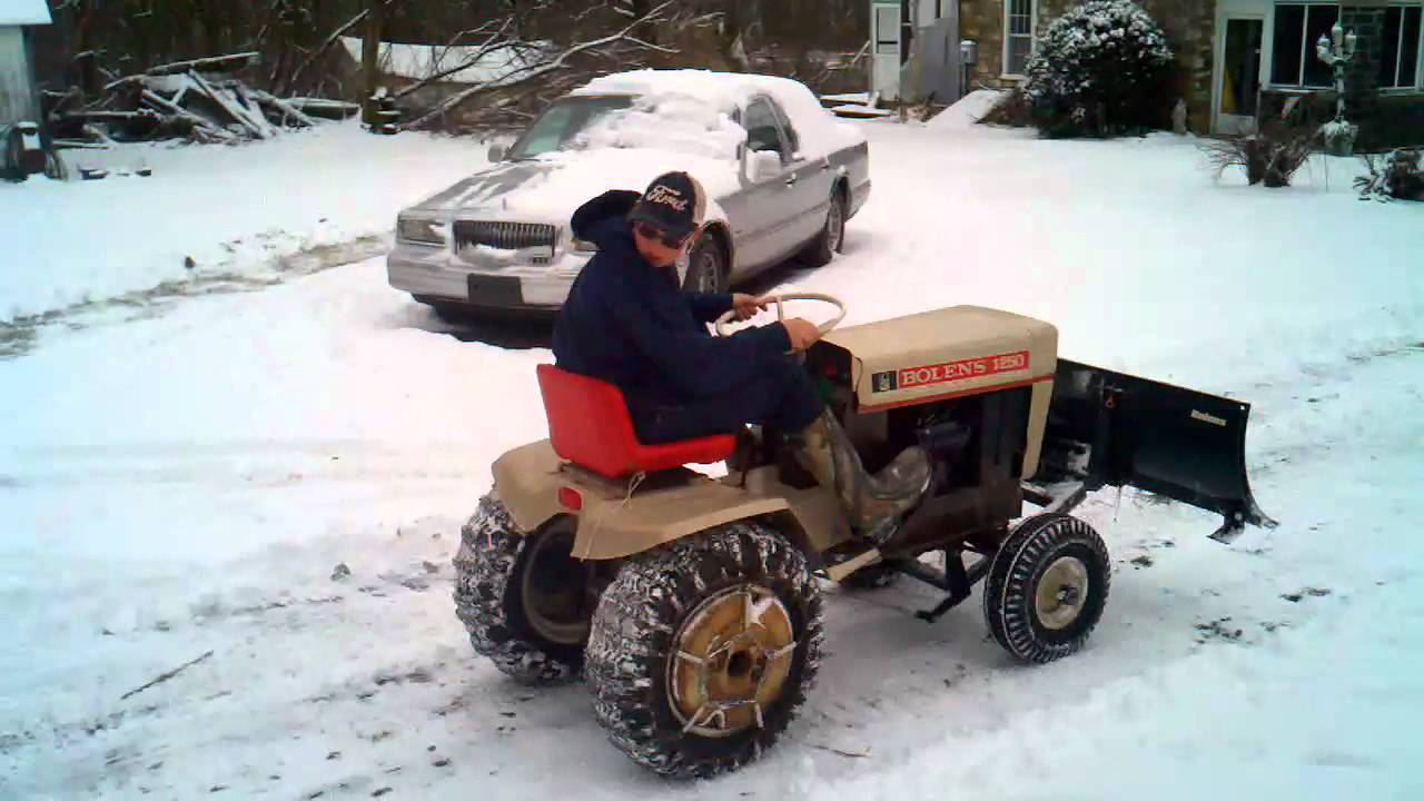 Bolens 1250 Plowing Snow YouTube
