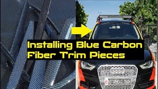 Audi DIY: Install Rare Blue Carbon Fiber Interior Trims on A4, A5, S4, S5, Q5, SQ5 09-16 B8 & B8.5