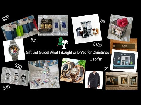Christmas Gift Ideas/Guide for Different Price Ranges