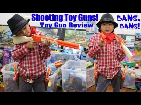 Kids' Toy Gun Review: Old Western Rifle and Pistol CAP Guns. Wild Wild West Cowboy Guns!
