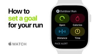Apple Watch Series 4 — How to set a goal for your run — Apple