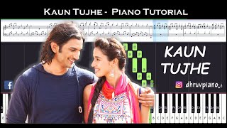 ♫ KAUN TUJHE (M.S Dhoni) || 🎹 Piano Tutorial + Sheet Music (with English Notes) + MIDI
