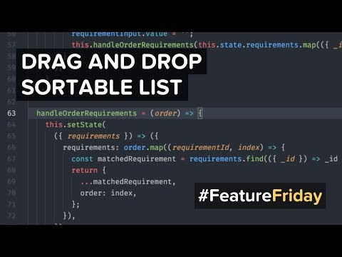 #FeatureFriday: Drag and Drop Sortable Lists